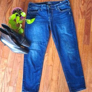 Silver Suki skinny crop jeans, 29/25